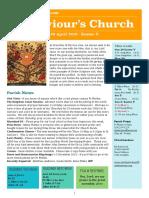 st saviours newsletter - 29 april 2018