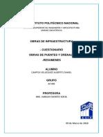 Cuestionario Obras de Puentes y Drenaje.