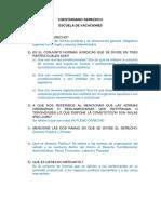 Cuestionario Derecho II Escuela 2016