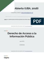 Ley 27275 Acceso a la Información Pública (UBA, 2018)