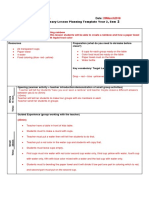 lesson plan template sciece experment