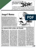 Jaque n63 1985 - Democratización de la sociedad y la literatura - y sobre Rama