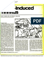 Noise Induced Tinnitus