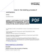 Risk and Price in the Bidding Process of Contractors