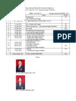Jadwal Biologi Dasar Kimia A Ganjil 2010-2011