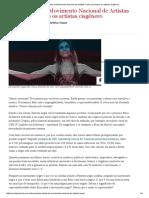 Carta Aberta Do Movimento Nacional de Artistas Trans Para Todos Os Artistas Cisgênero