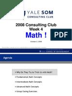 Yale SOM Math
