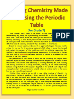 Teaching Chemistry Made Easy Using the Periodic Table