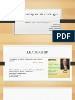 Leadership and Its Challenges