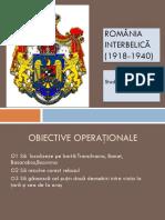 România Interbelică 1918 1940