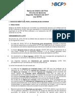 BCP Informe de Gerencia Segundo Trimestre Del 2017 Ley 26702 Año 2017