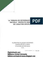La Semana de Extremadura en la Escuela. Proyecto didáctico de carácter singular por Florentino Blázquez Entonado en Revista Campo Abierto nº 9/1992 p. 329-341