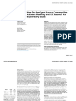 How Do the Open Source Communities Address Usability and UX Issues? an Exploratory Study