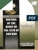 Virtues of the Night the 15th of Shaban by Malik Abdul Haqq Makki