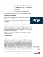 Effect of Aggregate Flakiness on the Compressive