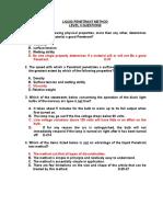 Liquid Penetrant Method - Level II -A Question