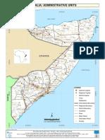 Somalia Administrative Units With Villages,  somali Geography, somaliland, puntland, jubaland