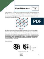 Exp 11 - Crystal StructureF11