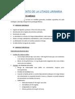 URO6 - PATOLOGÍA LITIÁSICA