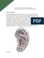 auriculoterapia. Definición y antecedentes