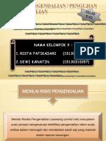 RISIKO PENGENDALIAN / PENGUJIAN PENGENDALIAN