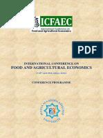 107.04.27 國際糧食和農業經濟學大會(ICFAEC) 敬邀詹翔霖博士Conference Programme