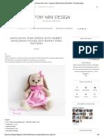 Amigurumi Polka-dot Bunny Free Pattern - Tiny Mini Design