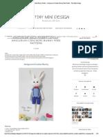 Amigurumi Male Bunny Pattern - Amigurumi Crackers Bunny Free Pattern - Tiny Mini Design