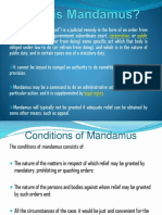 What is Mandamus SLide