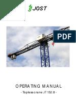 JT152.8 Operating Manual