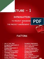 Lecture 1 Pm Mba 2e 14 Feb