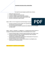 Estudo Dirigido Psicologia Social Comunitária