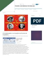 A Conspiração e Corrupção Da Escola de Frankfurt - Conservadorismo Do Brasil