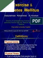 Exercise and Diabetes Mellitus Alhowikan