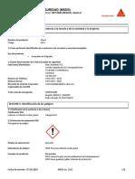 HOJA DE SEGURIDAD Sika 3 Acelerante de fraguado.pdf