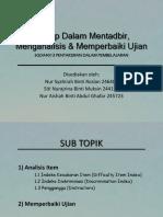 Group Presentation - Item Analysis