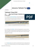 The Comprehensive Tekhelet Tying Guide - Ptil Tekhelet