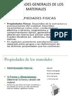 Propiedades de Los Materiales Formas y Dimensiones, Etc