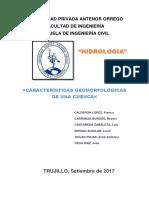 Informe Geomorfologia de Una Cuenca