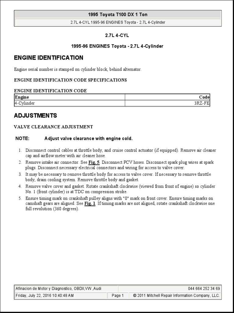 1995 Toyota T100 DX 1 TON 2 7L 3RZ-FE  pdf   Distributor