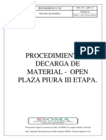 Procedimiento N° 003 Descarga de material