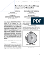 A Proposal for Introduction of Geothermal Energy to the Energy Sector of Bangladesh(1)