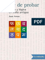 Arte de Probar Ironia y Logica en La India Antigua - Juan Arnau