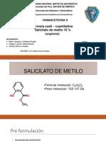 Mesa 5 Salicilato de Metilo 18.11.17