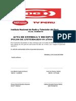 ACTA de ENTREGA de Polos de Aniversario 60 Años Tv Perú