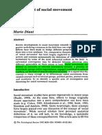144612336 Mario Diani 1992 the Concept of Social Movement