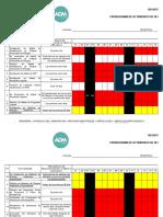 Cronograma de Actividades HSQ MARZO