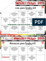 2018 may lunch menu grades 6-8 spanish