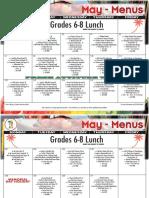 2018 may lunch menu grades 6-8