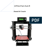 Geeetech Prusa I3 Pro Manual de Usuario